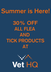 30% Off all flea and tick products at Vet HQ