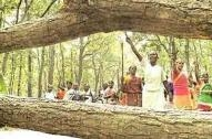 Adivasi women in Jharkhand protesting against deforestation