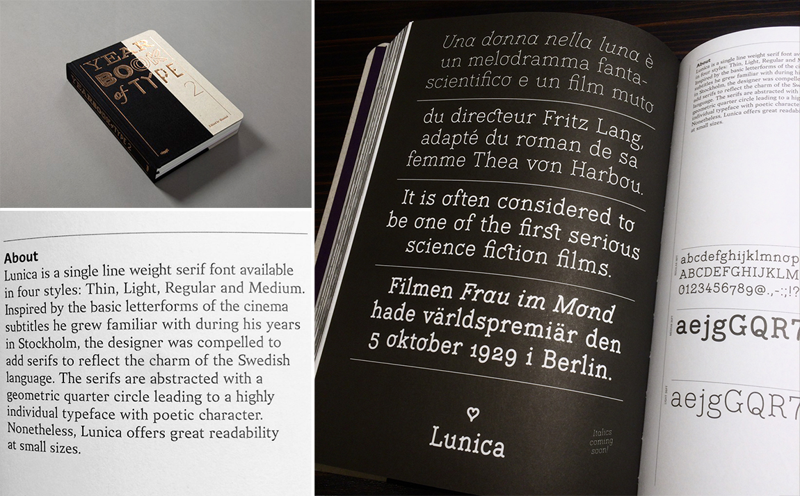 Lunica in Yearbook of Type II by www.slanted.de