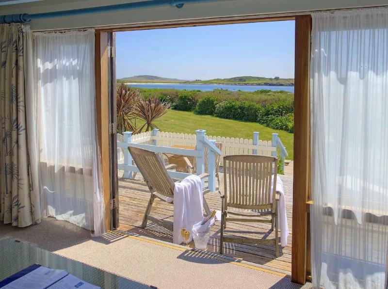 Blick vom Hotel auf die Bucht