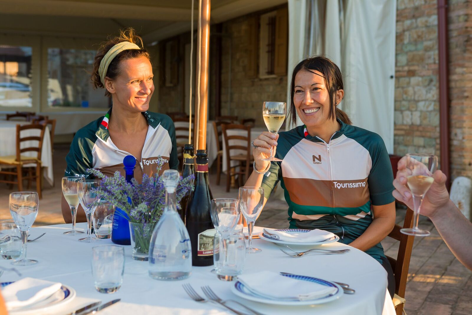 Chef bikers enjoy a break in Sicily.