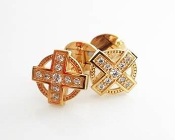 Brass Gold Plated Pectoral Cross - 358