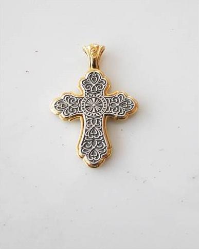 Silver Cross Pendant for Neck - 41