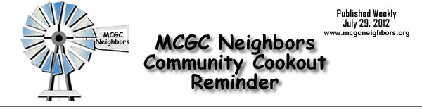 Community Cookout hosted by MCGC Neighbors