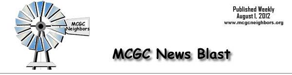 MCGC News Blast for August 1, 2012