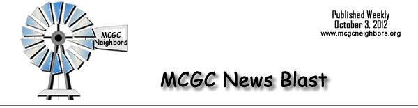 MCGC News Blast for October 3, 2012