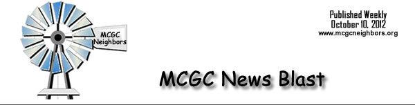 MCGC News Blast for October 10, 2012