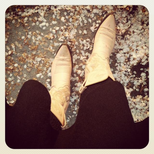 boots and petals