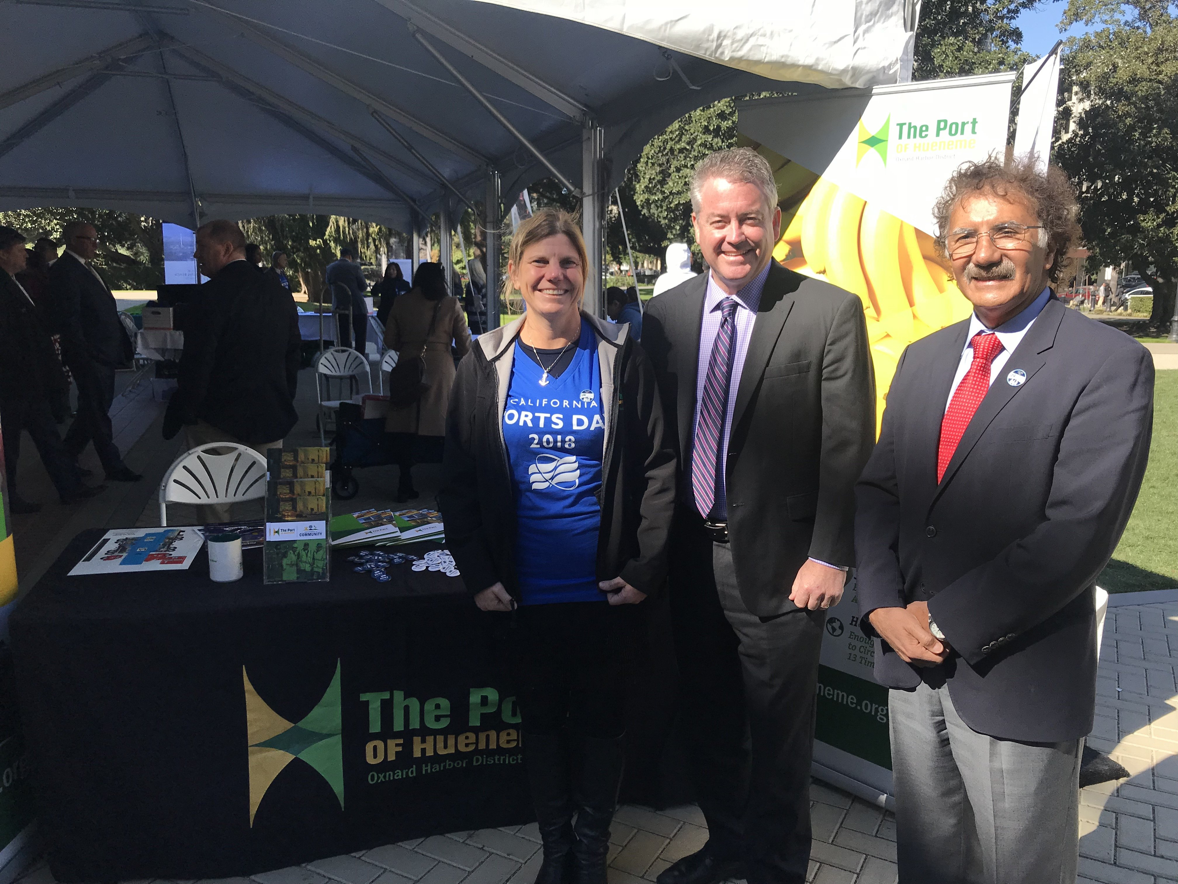 Kristin Decas, CAPA President and Port of Hueneme CEO & Port Director; Assemblymember Patrick O'Donnell (District 70); and Mario Cordero, Executive Director of Port of Long Beach