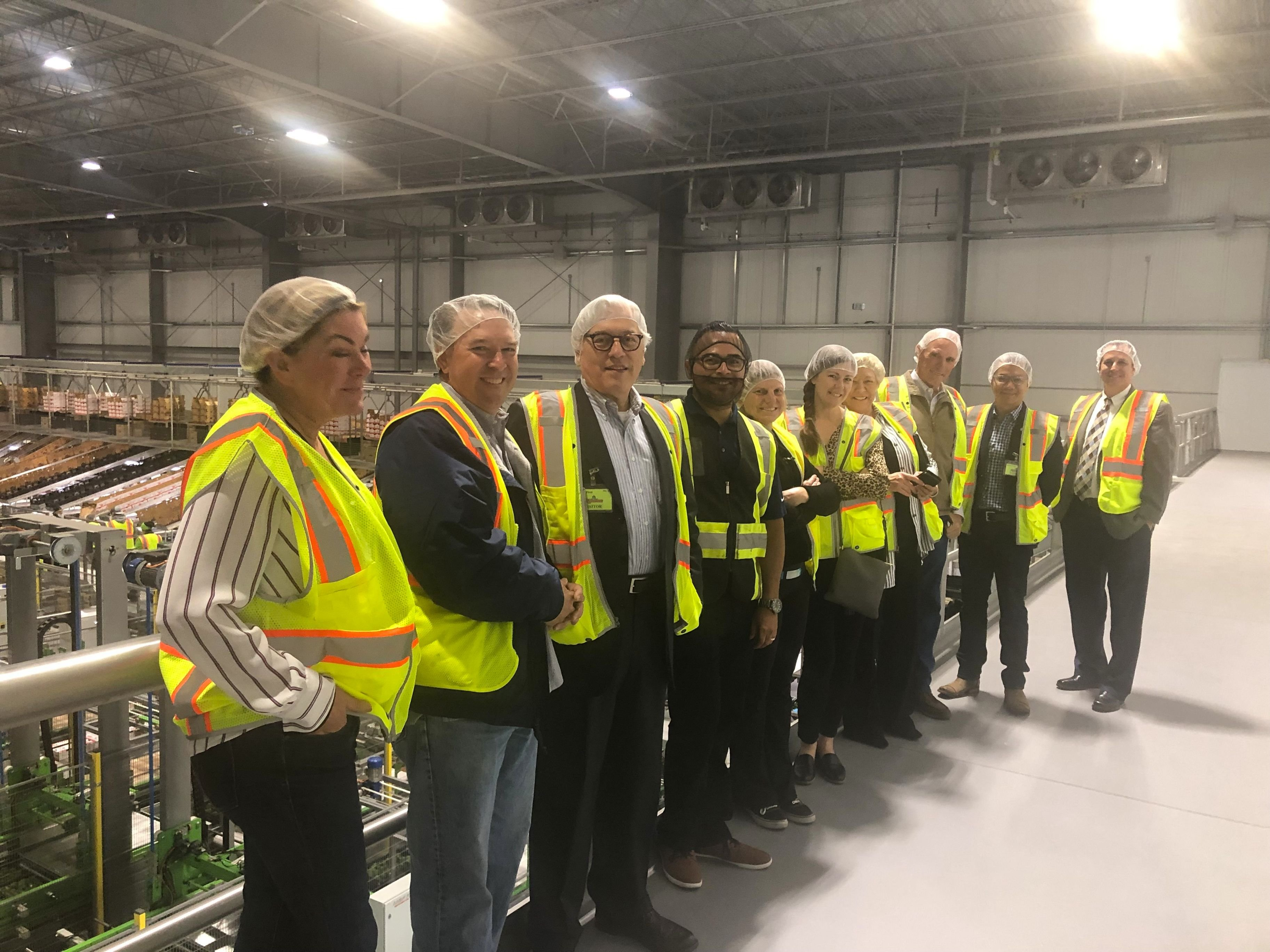 City of Oxnard, Oxnard Chamber of Commerce, Port of Hueneme joint tour of Mission Produce New Cold Storage Facility in Oxnard, CA