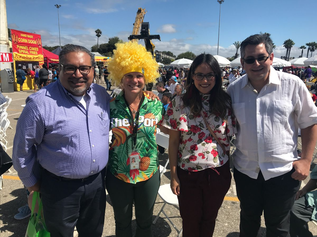 Port of Ensenada Chief Commercia Officer Francisos Rodriguez Navarrete, Port of Hueneme CEO & Port Director Kristin Decas, Port of Ensenada Commercial Manager Irurbe de Garay, and Mexican Consul Adscrito Jonathan Elias Alvarez Alzua