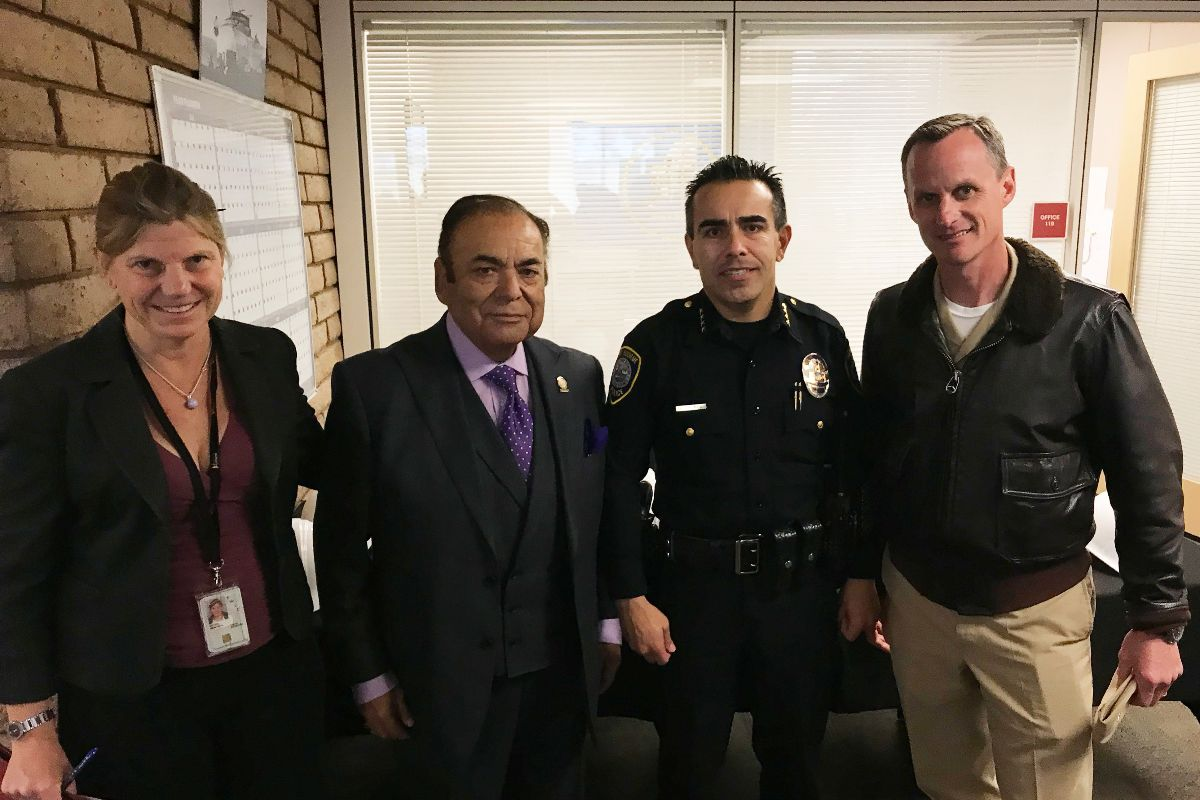 Kristin Decas, CEO & Port Director, Port of Hueneme; Oxnard Harbor District President Jess Herrera; Port Hueneme Chief of Police Andrew Salinas; Jeff Chism, Commanding Officer, Naval Base Ventura County