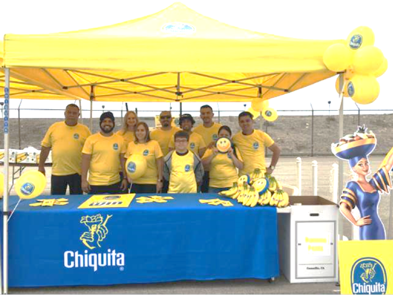 Chiquita staff handed out free bananas and several other prizes by playing the Miss Chiquita game with attendees at the Port's Annual Banana Festival
