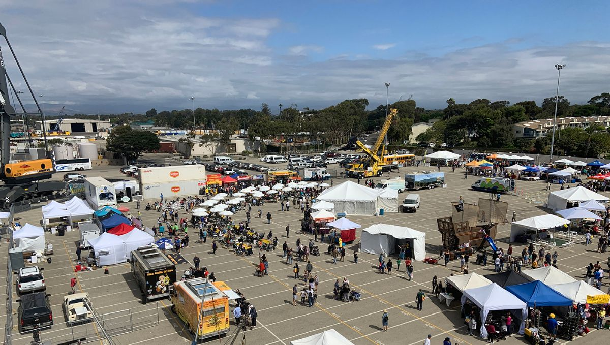 A bird's eye view of the opening of the 8th Annual Banana Festival