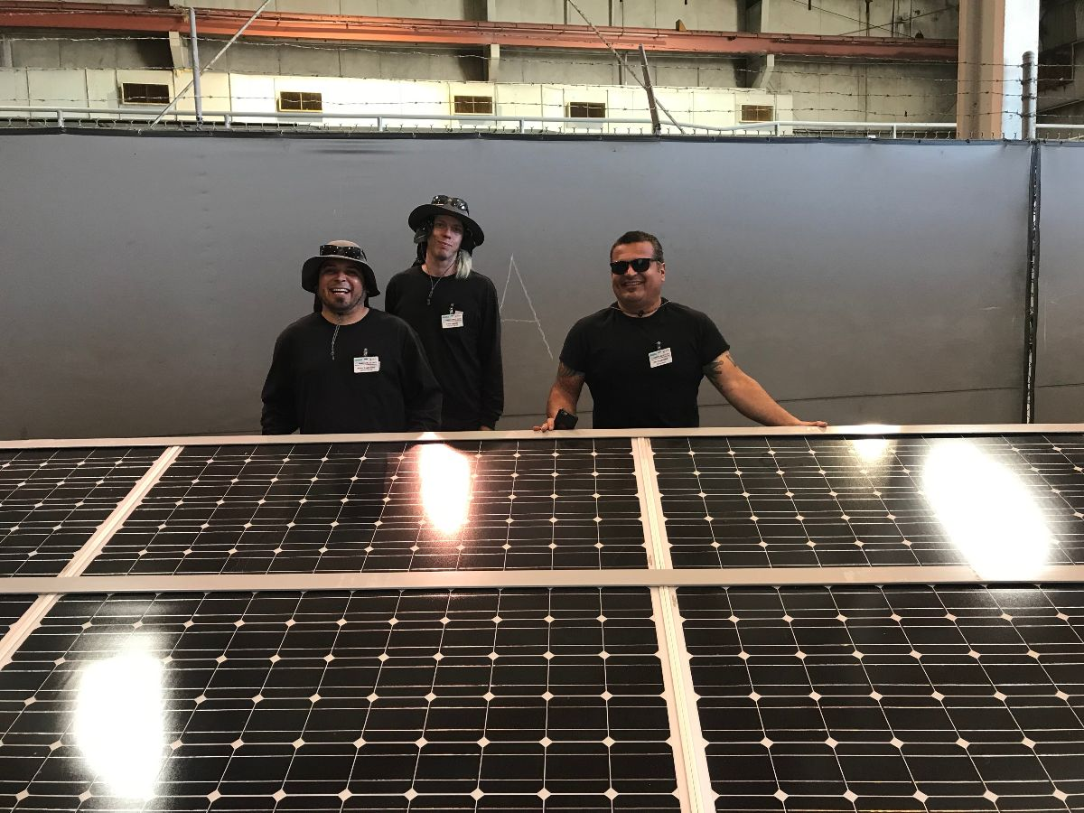 SacTec Solar showcased their solar panels which powered several elements of the day's festivities including the Port's mobile phone charging station