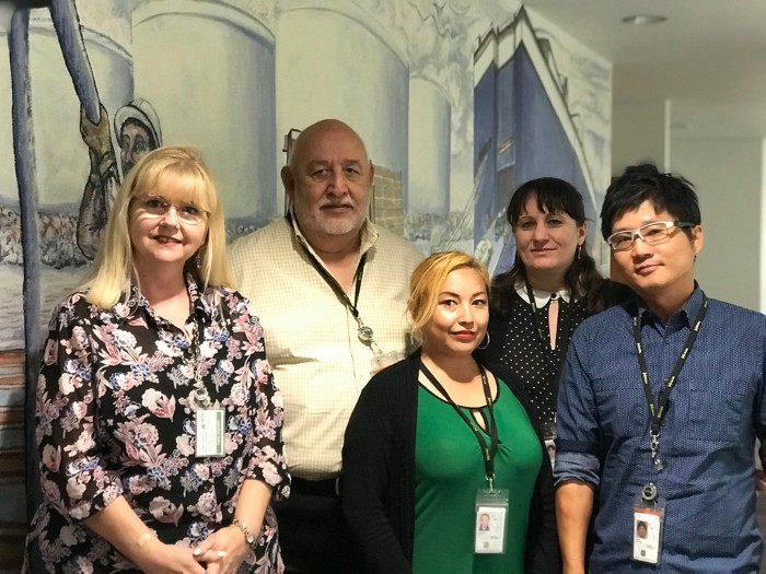 Robin Campos, HR Management Specialist; Andrew Palomares, Deputy Executive Director, CFO/CAO; Julie Johnson, Fiscal Technician; Gabriella Sabo, Accounting Manager; Austin Yang, Director of Finance