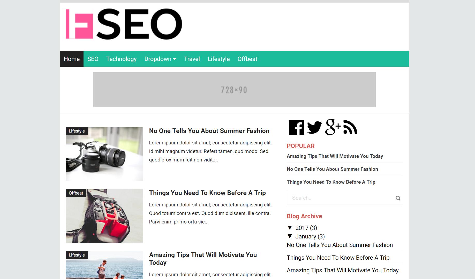 Flatt SEO Blogger Template