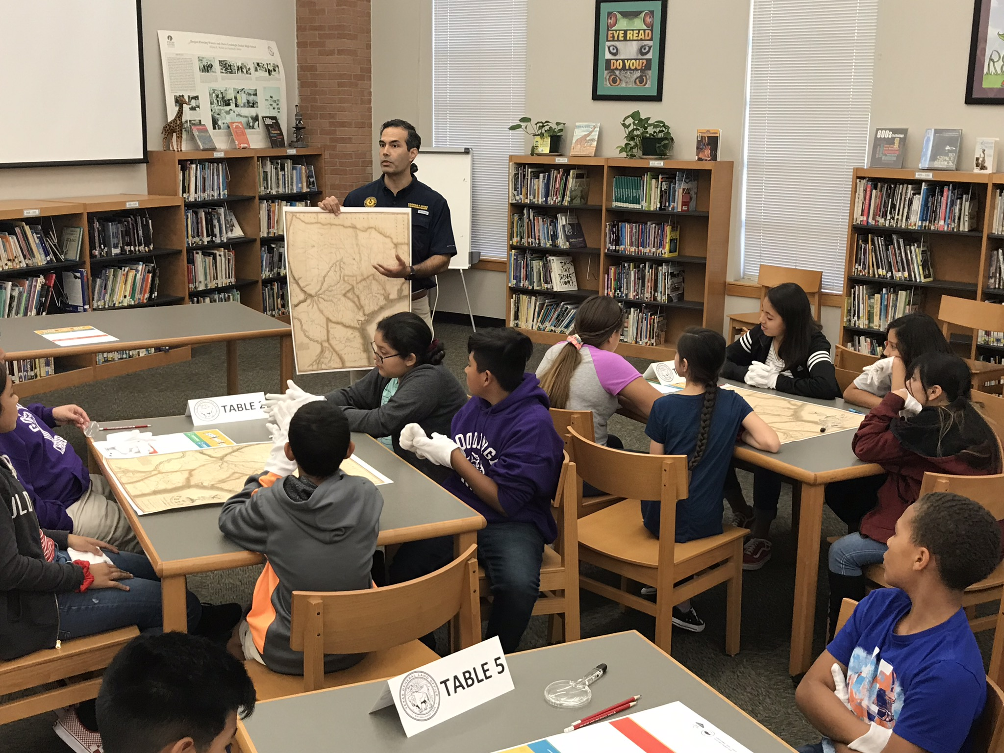 George P Bush teaching school children
