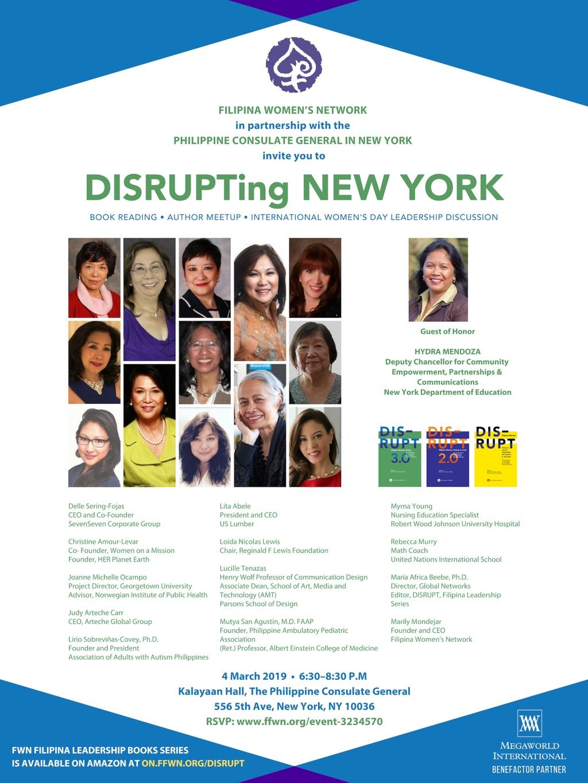 DISRUPTing NEW YORK March 4 2019