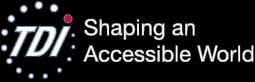 TDI logo: Shaping an Accessible World