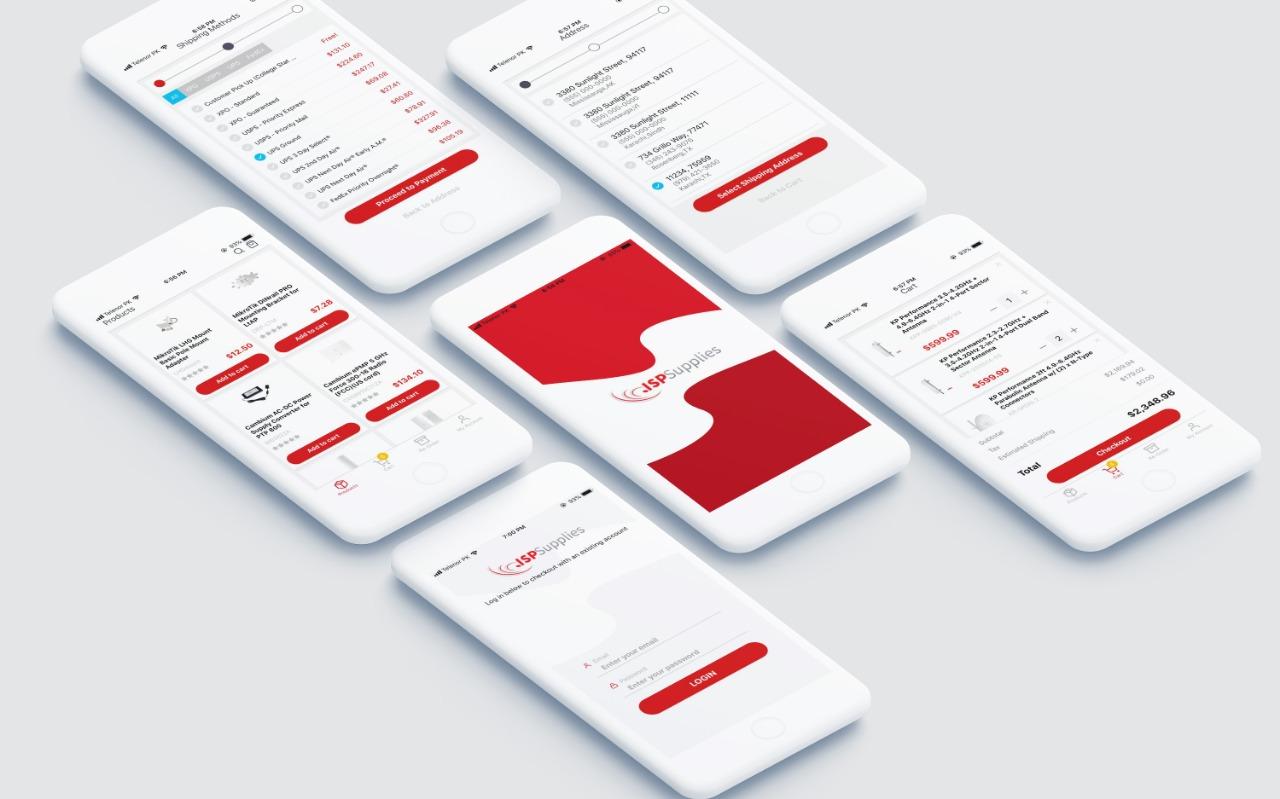 ISP Supplies mobile app