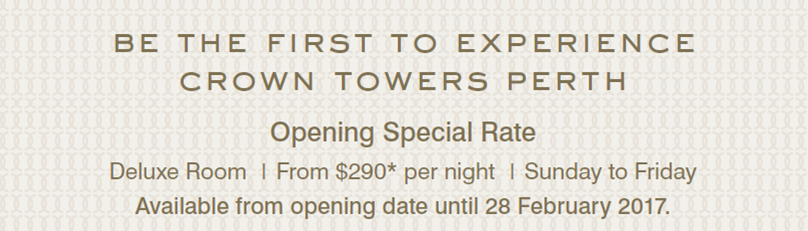 Crown Perth Special Rate