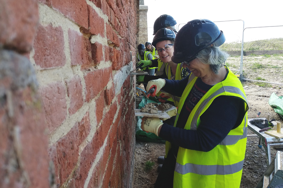 Repointing at RSPB Strumpshaw Fen