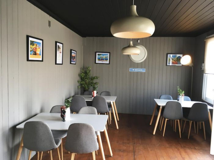 The interior of the new café at Acle Bridge