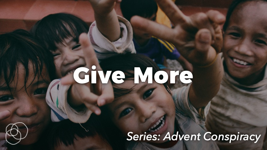 Give More (Kids holding peace signs))