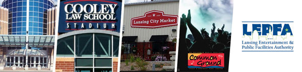 LEPFA properties: Lansing Center, Cooley Law School Stadium, Lanising City Market and Common Ground Music Festival. So pretty!