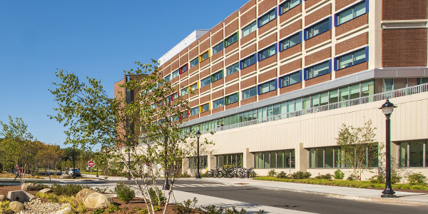 Exterior shot of the newly-renovated Gant Science Complex