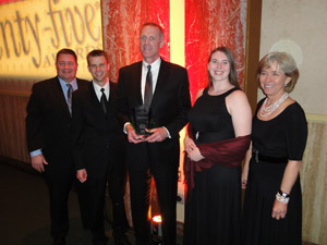 Affinis co-workers at gala event.