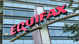 Equifax signage outside of Equifax building.