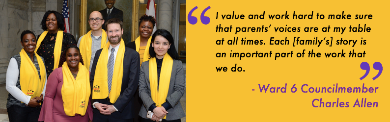 I value and work hard to make sure that parents voices are at my table at all times. Each [parent] story is an important part of the work that we do.