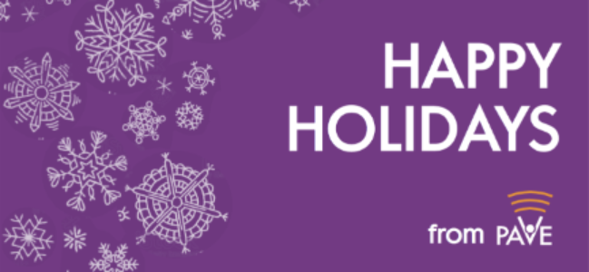 Happy Holidays from PAVE