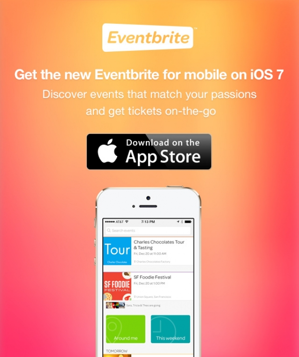Get the new Eventbrite for mobile on iOS7