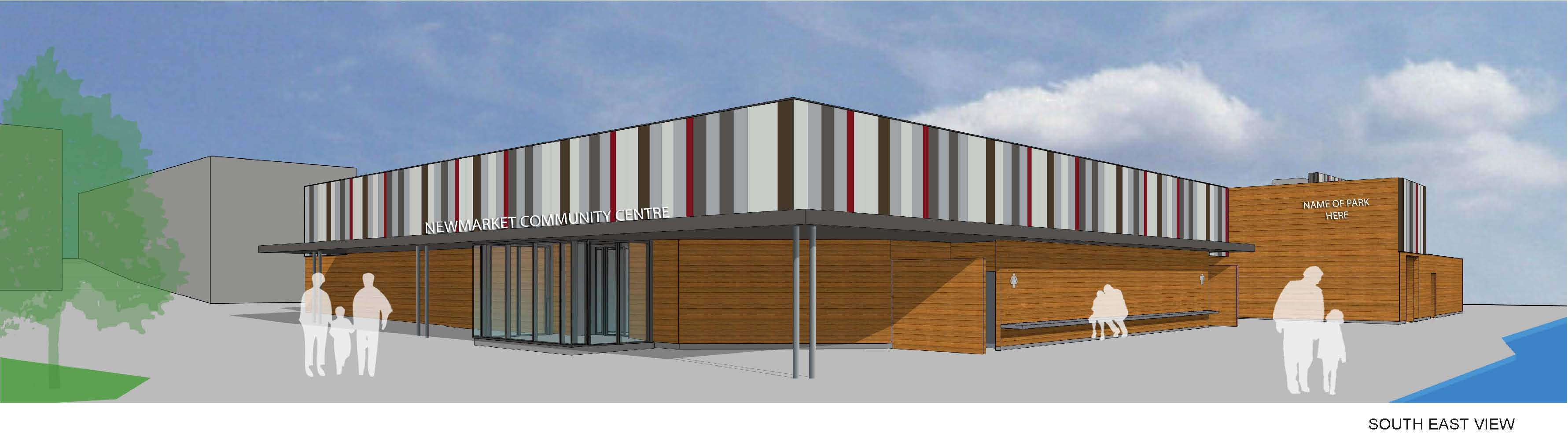 An artistic rendering of the Community Centre post renovations