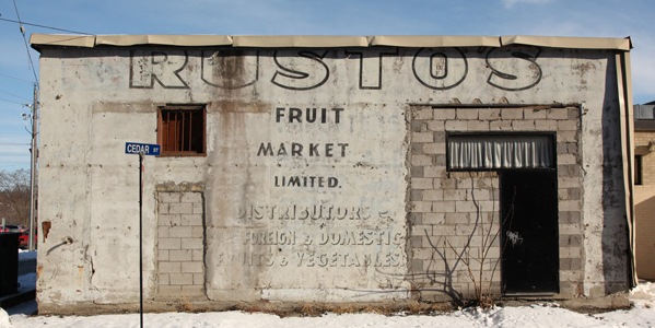 Rusto's Fruit Market previously occupied a portion of the Community Centre before the main building was built in 1974