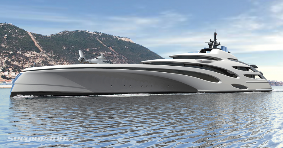 Echo Yachts presents a new 120m Trimaran superyacht design