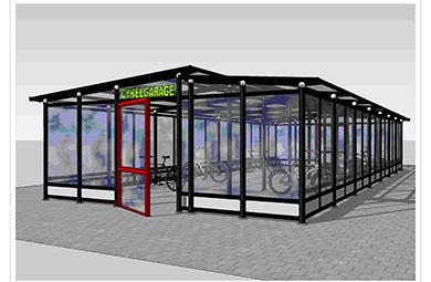 Cykelgarage i Örebro