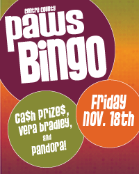 PAWS Bingo - November 18