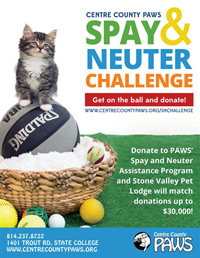 PAWS Spay/Neuter Matching Gift Challenge