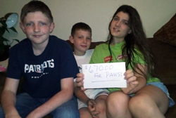The Fitzgerald children raised $670 for PAWS