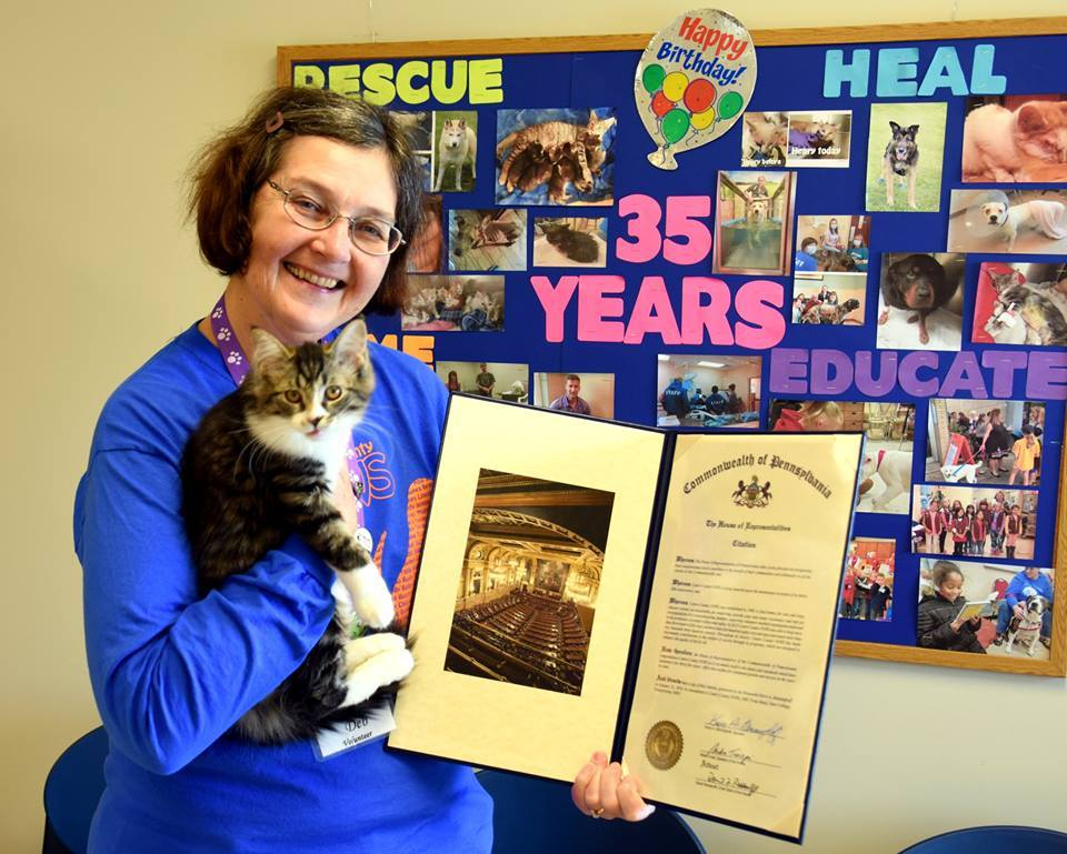 Deb B. celebrating PAWS' 35th Anniversary