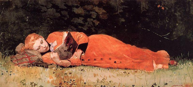"Winslow Homer ""The New Novel"""