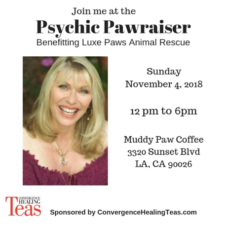 Psychic Pawraiser, November 4, 12-6 p.m. Muddy Paw Cafe.