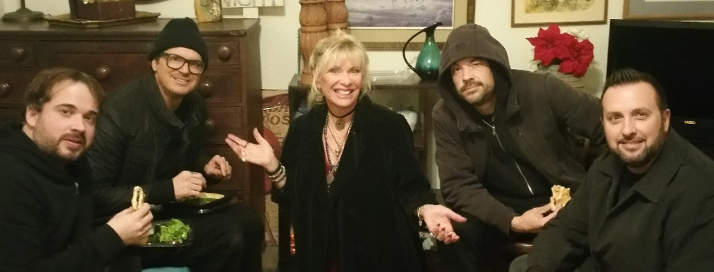 Patti with the crew of Ghost Adventures