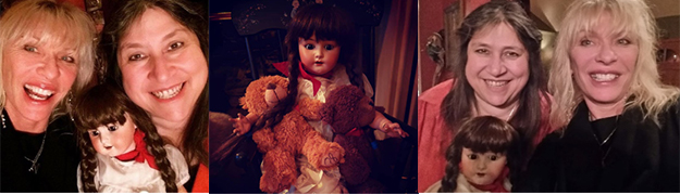 Patti with Belle, the haunted doll