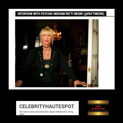 Patti's interview with Celebrity Haute Spot
