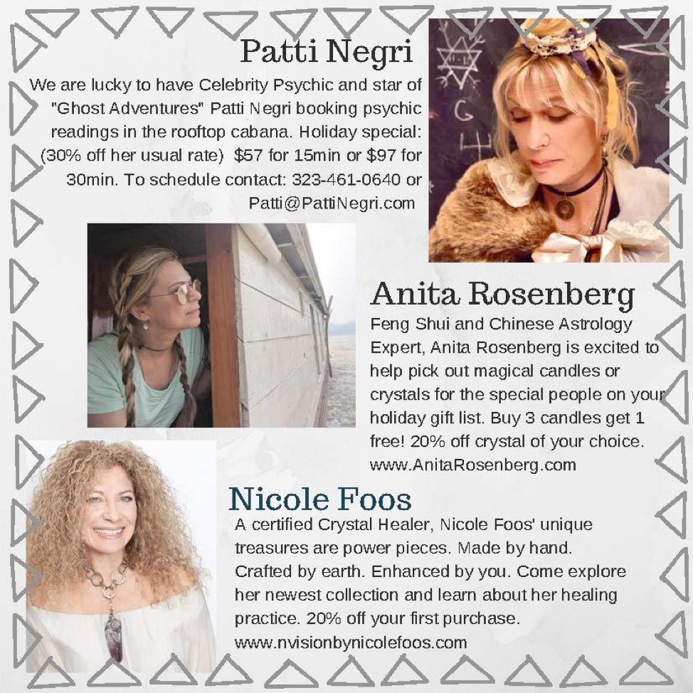 Patti's bio for the Holiday Magic Party.